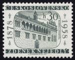 Sellos de Europa - República Checa -  REPUBLICA CHECA - Castillo de Litomyšl