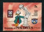 Sellos del Mundo : Europa : Maldivas : 50 cumpleaños de Donald