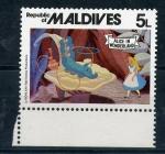 Sellos de Asia - Maldivas -  Alicia en el país de las maravillas