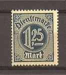 Sellos de Europa - Alemania -  Servicio / Sin numero 21 en las esquinas.
