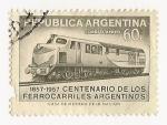 Sellos del Mundo : America : Argentina : Centenario de los ferrocarriles Argentinos