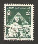 Sellos de Africa - Egipto -  esfinge de guiza y la pirámide de kefren