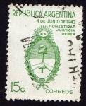 Sellos de America - Argentina -  4 de junio de 1943 Escudo