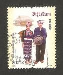 Sellos del Mundo : Asia : Vietnam : traje típico de lao