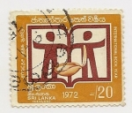Sellos de Asia - Sri Lanka -  International Book Year
