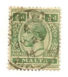 Sellos de Europa - Malta -  King George V
