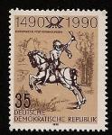 Sellos de Europa - Alemania -  500 años de servicios postales - mensajero a caballo