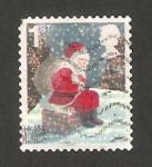 Sellos del Mundo : Europa : Reino_Unido : navidad, papa noel sentado en la chimenea