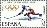 Sellos de Europa - España -  x juegos olimpicos de invierno en grenoble