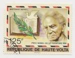 Sellos de Africa - Burkina Faso -  Premio Nobel de Literatura a Bertrand Russel