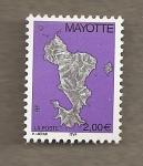 Sellos del Mundo : Africa : Mayotte : Mapa isla