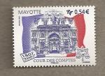 Sellos del Mundo : Africa : Mayotte : Aniversario Tribunal de cuentas