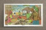 Sellos del Mundo : Africa : Mayotte : Chiringuito en la playa