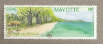 Sellos del Mundo : Africa : Mayotte : La playa de N'Gouja