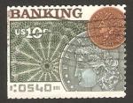 Sellos de America - Estados Unidos -  moneda antigua, banking