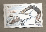 Sellos del Mundo : America : San_Pierre_&_Miquelon : Ave l'eider, grandes migraciones