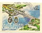 Sellos de America - Uruguay -  Represa Salto Grande