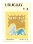 Sellos de America - Uruguay -  Brasiliana 83