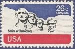 Sellos del Mundo : America : Estados_Unidos : USA Shrine of Democracy 26 airmail
