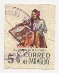Sellos de America - Paraguay -  Tejedora de Ñanduti