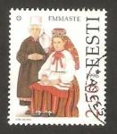 Sellos del Mundo : Europa : Estonia : trajes regionales, emmaste