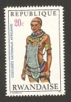 Sellos del Mundo : Africa : Rwanda : trajes regionales africanos, mujer de la tribu tharaka meru