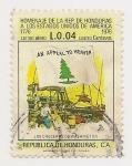 Sellos de America - Honduras -  Homenaje a los EE.UU.