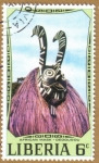 Sellos del Mundo : Africa : Liberia : African Mask - DEDOUGOU