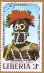 Sellos del Mundo : Africa : Liberia : African Mask - DOGON