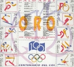Sellos del Mundo : Europa : España : Olimpiada de Barcelona serie Oro