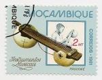 Sellos del Mundo : Africa : Mozambique : Instrumentos musicales
