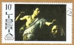 Sellos del Mundo : Africa : Liberia : Caravaggio-David y Goliath
