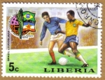 Sellos del Mundo : Africa : Liberia : Copa Mundo Futbol Munich 1974