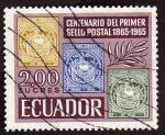 Sellos del Mundo : America : Ecuador : Cent. 1er. sello postal