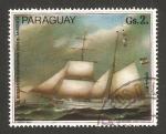 Sellos de America - Paraguay -  Barco alemán, P. Holm 1864