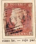 Sellos del Mundo : Europa : Reino_Unido : Reina Victoria año 1841