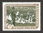 Sellos de Africa - Rwanda -  X anivº de la independencia