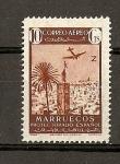 Sellos de Africa - Marruecos -  Paisajes y avion en vuelo