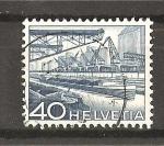 Sellos de Europa - Suiza -  Serie Basica./ Puerto fluvial de Bale.