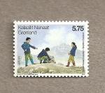 Sellos de Europa - Groenlandia -  100 Aniv de los Boys Scouts