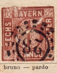 Sellos del Mundo : Europa : Alemania : Estado Libre de Baviera 1849