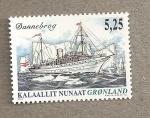 Sellos del Mundo : Europa : Groenlandia : Barco Dannebrog