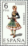 Sellos de Europa - España -  trajes tipicos españoles