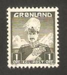 Sellos de Europa - Groenlandia -  Christian X