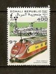 Sellos del Mundo : Africa : Somalia : Trenes / West German Inter-City Diesel