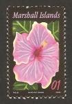 Sellos del Mundo : Oceania : Islas_Marshall : flor, hibiscus, norman lee