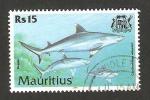 Sellos del Mundo : Africa : Mauricio : pez tiburón