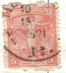 Sellos del Mundo : America : Argentina : ARGENTINA 1921 (263) Conmemoracion del Primer Congreso Postal Panamericano 5c