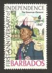 Sellos del Mundo : America : Barbados : anivº de la independencia, el gobernador general