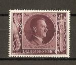 Sellos del Mundo : Europa : Alemania : III Reich / 54 Aniversario de Hitler